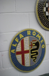 Alfa Romeo Badge Mosaic (JR 2603)