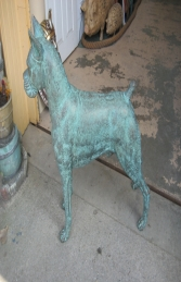Boxer dog in bronze (JR 110120b) - Thumbnail 02