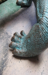Komodo Dragon small in bronze 5.5ft (JR 120017b) - Thumbnail 02