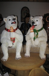 Polar Bear sitting with ice cream 2ft (JR 2727-W)	 - Thumbnail 03