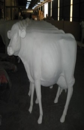 Cow - Smooth White head up without horns (JR SB006) - Thumbnail 02