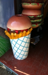 Hamburger Rubbish Bin (JR 2704)    - Thumbnail 01