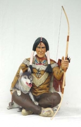Indian Warrior seated with Wolf (JR 1054) - Thumbnail 03