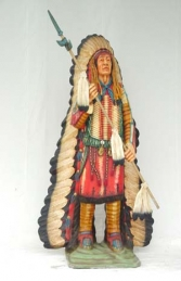 Indian with Spear & Head-dress 6ft (JR 609) - Thumbnail 03
