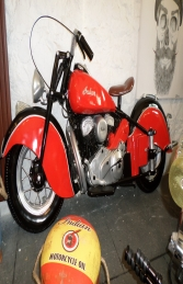 Vintage Bike Wall Decor - Red ( JR DF6420R) - Thumbnail 01