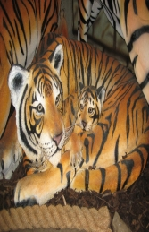 Bengal Tigress lying with Cub (JR 120011) - Thumbnail 01