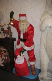 Santa with Real Clothes and Bag - 6ft (JR 1656) - Thumbnail 01