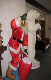 Santa with Real Clothes and Bag - 6ft (JR 1656) - Thumbnail 03