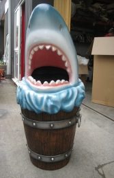 Shark Head Rubbish Bin (JR 2724) - Thumbnail 01