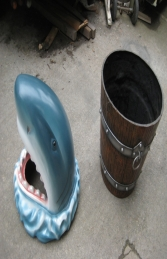 Shark Head Rubbish Bin (JR 2724) - Thumbnail 02