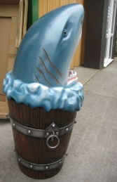 Shark Head Rubbish Bin (JR 2724) - Thumbnail 03