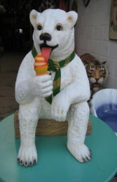 Polar Bear sitting with Ice Cream 2ft (JR 2726)