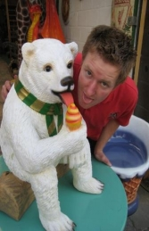 Polar Bear sitting with Ice Cream 2ft (JR 2726) - Thumbnail 03