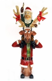 Elf on back of funny Reindeer (JR HW) - Thumbnail 01