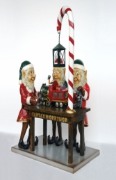 Three Elves in Santa's Workshop JR HX - Thumbnail 01