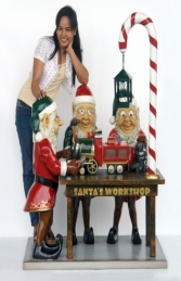 Three Elves in Santa's Workshop JR HX - Thumbnail 03