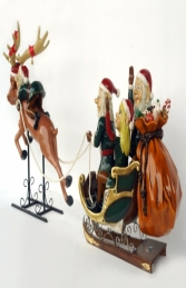 Elves with Santa, Sleigh and Reindeer (JR HY) - Thumbnail 03
