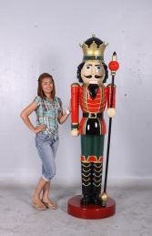 Nutcracker King with Sceptre 6.5ft (JR 0057) - Thumbnail 01