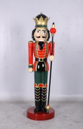 Nutcracker King with Sceptre 6.5ft (JR 0057) - Thumbnail 02