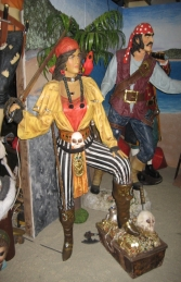 Lady Pirate with Treasure Chest 6ft (JR 2517) - Thumbnail 03