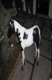 Horse Standing - Black & White 3ft (JR 100011) - Thumbnail 03