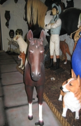 Horse Standing - Brown & White 3ft (JR 100011b) - Thumbnail 02