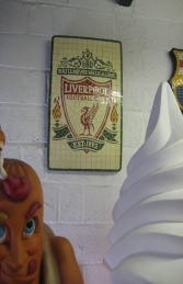 Liverpool F.C. Mosaic Football Sign (JR 2654) - Thumbnail 01