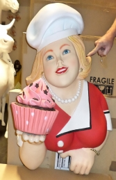 Lady with Cupcake wall decor (JR 3009) - Thumbnail 02