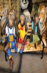 Monkeys with Bench (JR 2064) - Thumbnail 01
