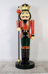Nutcracker King with Sceptre 6.5ft (JR CN0026)