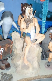 Neptune Statue on Rock (JR R-161) - Thumbnail 03