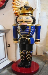 Nutcracker King 6.5ft - Blue Jacket (JR 110013B) - Thumbnail 02