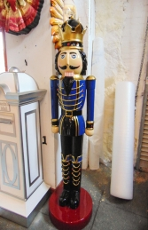 Nutcracker King 6.5ft - Blue Jacket (JR 110013B) - Thumbnail 03
