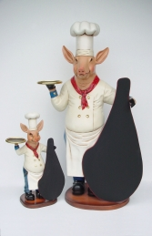 Pig Chef with Black-board 6ft (JR 2190)
