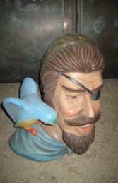Pirate Head with Bird Wall Decor (JR 2343) - Thumbnail 01