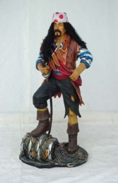 Pirate Stood on Barrel 3ft (JR 1436)