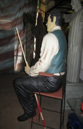 Pool Player seated Life-size (JR 1647) - Thumbnail 02