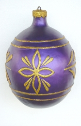 Christmas Decor Ball Purple w/Gold 1.5ft (JR 1193-D) - Thumbnail 01