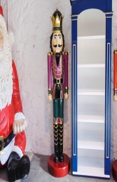 Nutcracker King 6.5ft - Purple Jacket (JR 110013P) - Thumbnail 02