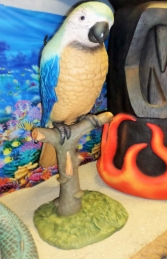 Parrot on Perch 3.5ft Blue (JR 2341B) - Thumbnail 03