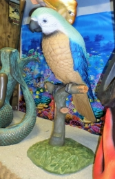 Parrot on Perch 3.5ft Blue (JR 2341B)