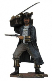 Smuggler, Buccaneer or Highwayman with Treasure Chest 6ft (JR 2495) - Thumbnail 01
