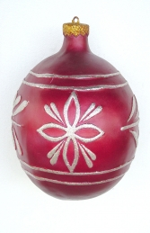 Christmas Decor Ball Red w/Silver 1.5ft (JR 1193-F) - Thumbnail 01