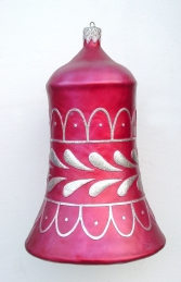 Christmas Decor Bell Red w/Silver (JR 1189-C)