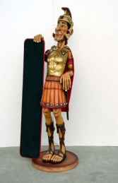 Roman Soldier Figure with Menu-board 5.5ft (JR 1863)