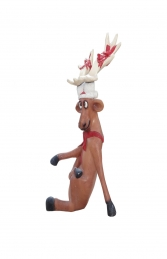 Funny Reindeer standing on crossed legs (JR S-017) - Thumbnail 02