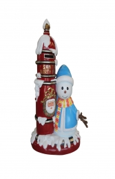 Santa Mail Box with Snowman (JR S-047)