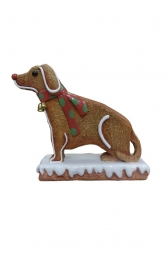 Mini Ginger Bread Dog (JR S-098) - Thumbnail 01