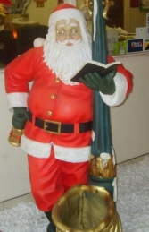 Santa with Lamp post life size (JR 1749) - Thumbnail 02