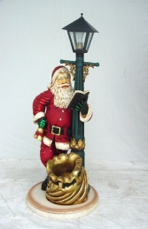 Santa with Lamp post 3ft (JR 1751) - Thumbnail 01